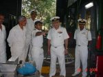 Atul Gaur during Naval Inspection by Admiral Suprintendent Naval DockYard Mumbai