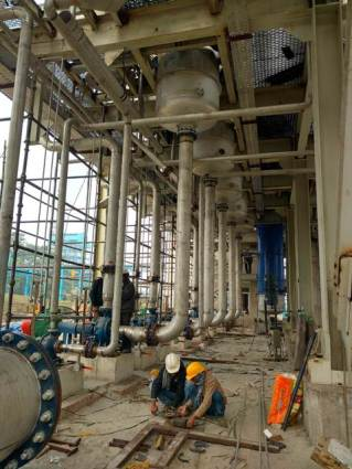 A View of BMSW Evaporator Plant
